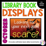 October & Halloween Book Display Posters and Readalike Bookmarks