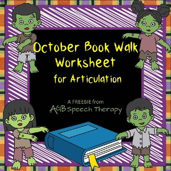 October Book Walk for Articulation Worksheet