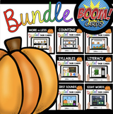 October Boom Card™ BUNDLE for Kindergarten - Math and Lite