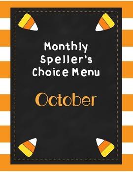 October Brain Blasts (Speller's Choice Menu)