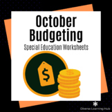 October Budgeting Skills for Autism / Special Education / Early Elementary
