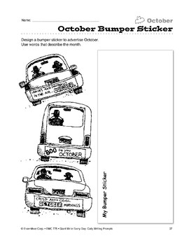 October Bumper Sticker