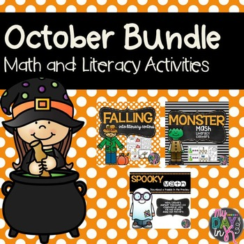 October Bundle (Math and Literacy Centers)