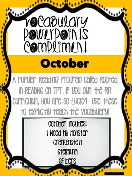 October Bundle! Vocabulary PowerPoints match Rooted in Reading 2nd grade books!