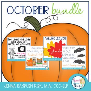 October Bundle for Speech and Language Therapy