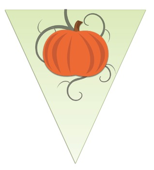 October Bunting- All Letters, Halloween or Pumpkin