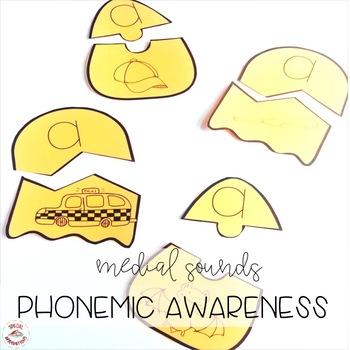 October CVC Medial Sounds Puzzles (Phonemic Awareness, Orton-Gillingham)