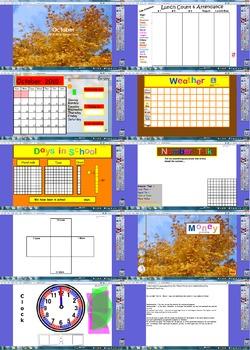 October Calendar 2016 flipchart
