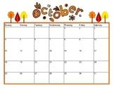 October Calendar 2016