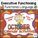 October Calendar Activities - Language