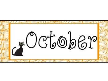 October Ghost Calendar Bulletin Board