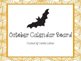 October Ghost Calendar Bulletin Board