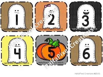 October Calendar Card ABCDEABCDF Pattern {Halloween Ghost}