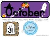 October Calendar Card ABCDEABCDF Pattern {Halloween Ghost}