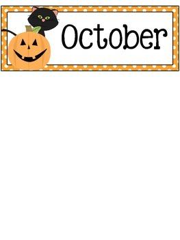 October Calendar Cards