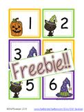 October Calendar Cards {ABC Pattern}