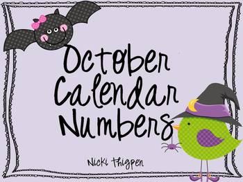 October Calendar Cards--Bird & Bat