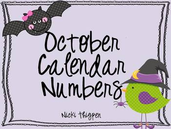 October Calendar Cards--Bird & Bat