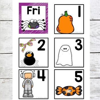 Calendar Cards for October