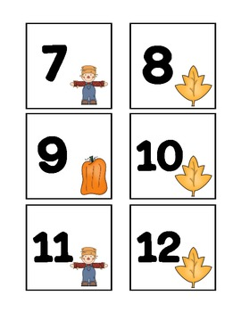 October Calendar Cards:Fall