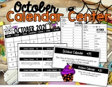 October Calendar Center Task Cards