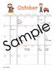 October Calendar Center Task Cards - Calendar Activity