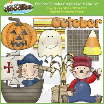 October Calendar Graphics