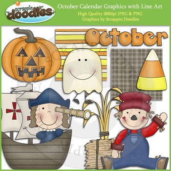 October Calendar Graphics
