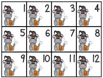 October Calendar Hippo Numbers