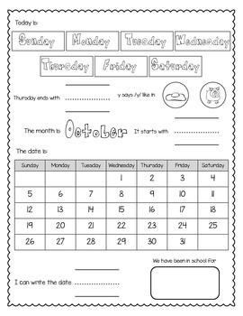 October Calendar Journal