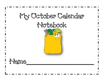 October Calendar Journal Pages