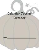 October Calendar Journals