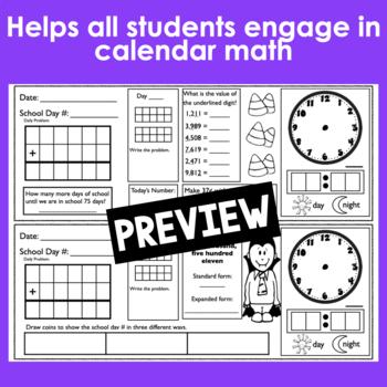 October Calendar Math Student Journal