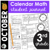 October Calendar Math Student Journal