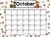 October Calendar Math and Morning Meeting for Smartboard or Mimio