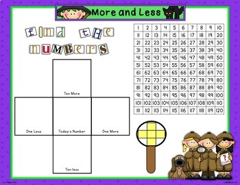 October Calendar Math - in PowerPoint - use with or without interactive board