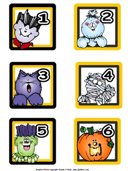 Calendar Numbers: October, Set 1