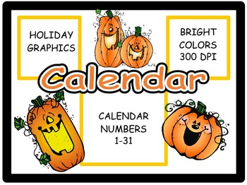 Calendar Numbers: October, Set 2