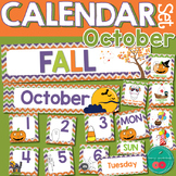 October Calendar Numbers - you can make your own pattern