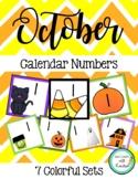 October Calendar Numbers (7 sets)