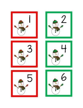 December Calendar Numbers (7 sets)