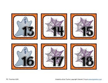 October Calendar Numbers ABB Pattern