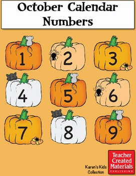 October Calendar Numbers by Karen's Kids (Digital Download)