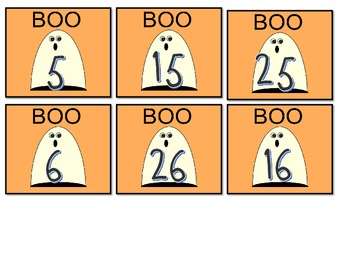 October Calendar Numbers with Holidays