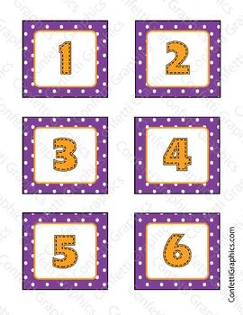 October Calendar Owl Polka Dot Set Days Of The Week Month Year Classroom Set