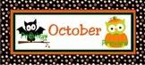 October Calendar Owls