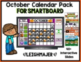 2017 October Calendar and Math Pack for Smartboard