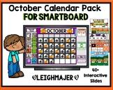 2020 October Calendar and Math Pack for Smartboard