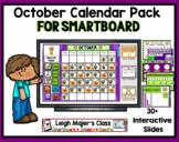 2018 October Calendar and Math Pack for Smartboard