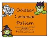 October Calendar Pattern